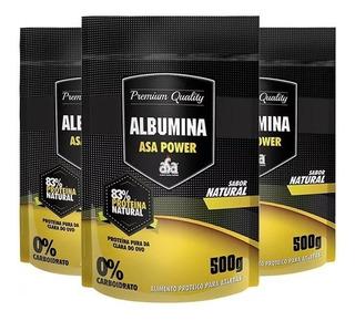 Combo Albumina: 3x Albumina 500g - Asa