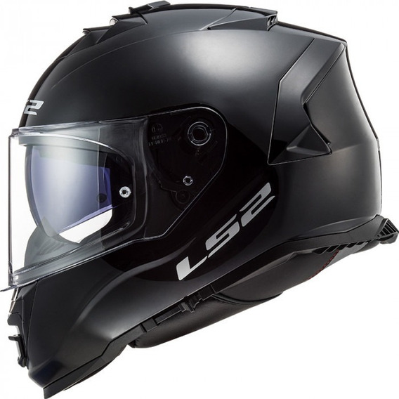 Casco Integral Ls2 Storm Ff800 C/ Lente Solid Negro Brillo
