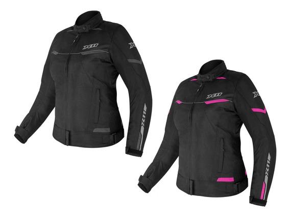 Jaqueta X11 Guard 2 Feminina Com Proteções Moto Motociclista