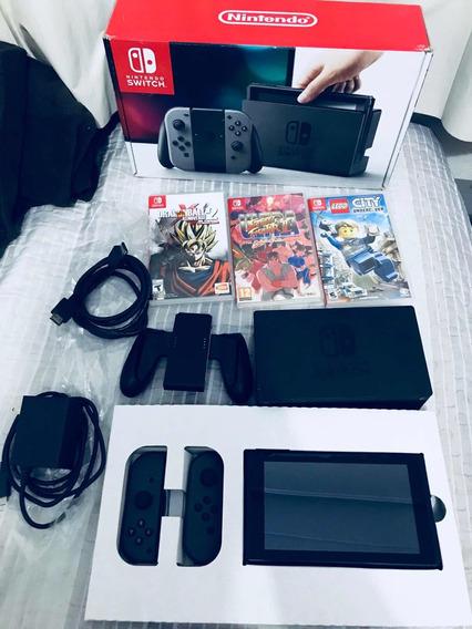 Nintendo Switch + 3 Jogos, Valor Negociável
