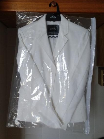 Blazer Branco Tam P Encorpado Tecido De Primeira Qualidade