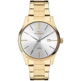 Relógio Technos Masculino Ref: 2115mpn/4k Social Dourado