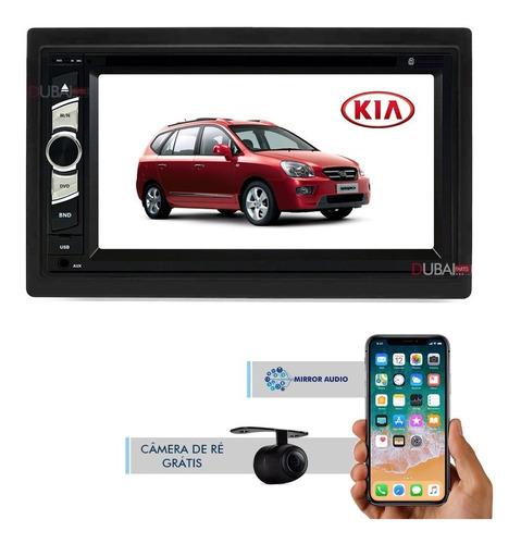 Central Multimídia Kia Carens Dvd + Câmera + Plug Original