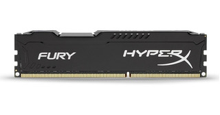 Memoria Kingston Hyperx Fury Black, 8gb Ddr3 1600 Mhz Cl10