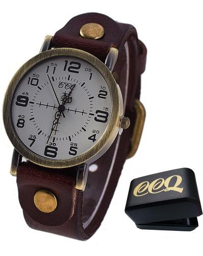 Relógio Feminino Ccq Modelo 1008 Pulseira De Couro