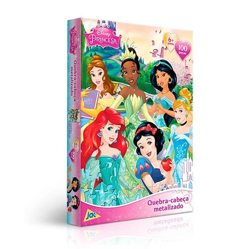 Quebra Cabeça 100 Peças Metalizado Princesas Jak Toyster