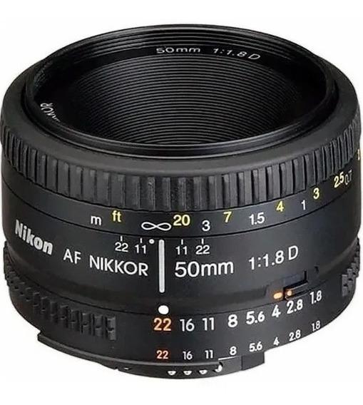 Lente Nikon 50mm Af F/1.8d Nikkor Estoque