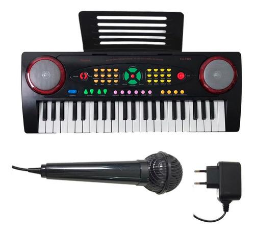 Teclado Infantil Standard Função Estudo E Microfone Ym-238c