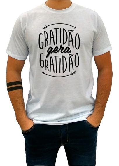 Camisas Masculina Blusas Femininas Gratidão Gera Gratid 1502
