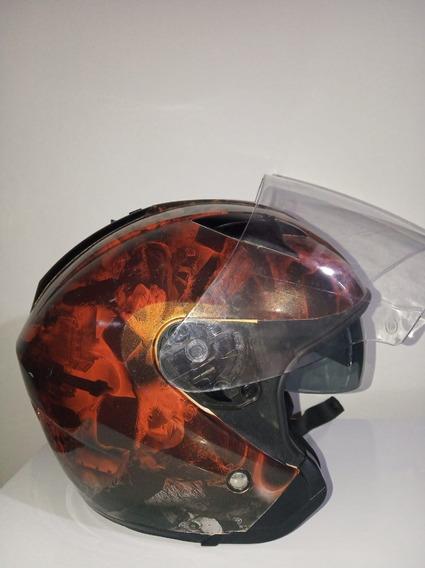 Capacete Harley Davidson Hd-h04 Adesivado