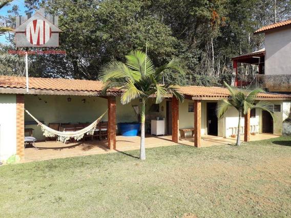 Chácara Charmosa Com 01 Dormitório À Venda, 1000 M² Por R$ 250.000 - Zona Rural - Pinhalzinho/sp - Ch0475