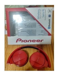 Auriculares Pioneer Rojos Bluetooth Se-mj553bt Original