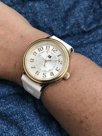 Relógio Banho Ouro Tommy Hilfiger Grandão 40mm Sem Contar A Coroa, Ainda Com Etiqueta Do Ipi - 13 Anos No Mercado Livre