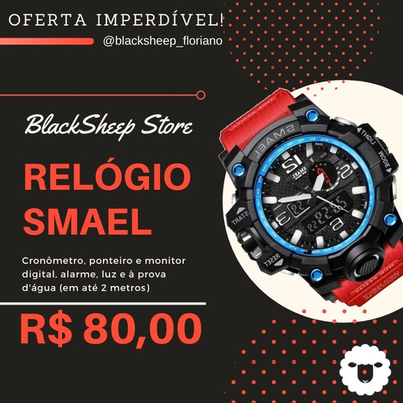 Relógio Smael S-shock Quartzo