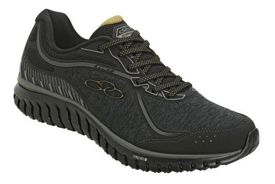 Tenis Olympikus Exact 559 Preto Dourado Calçados Bola7