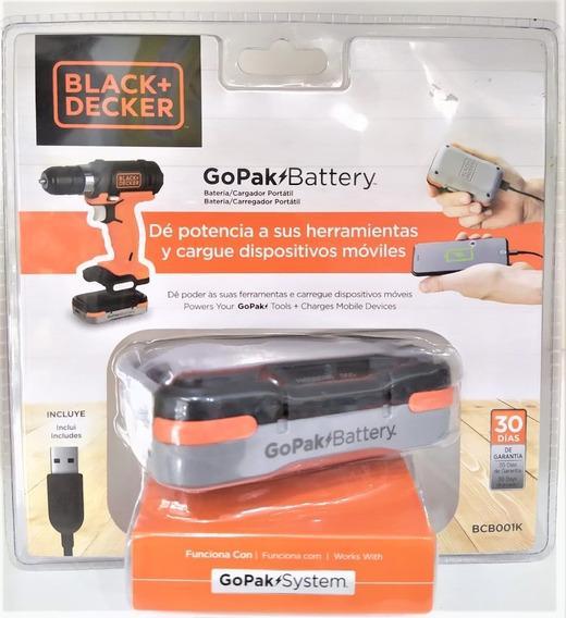 Bateria Black E Decker Go Pak Com Cabo Usb