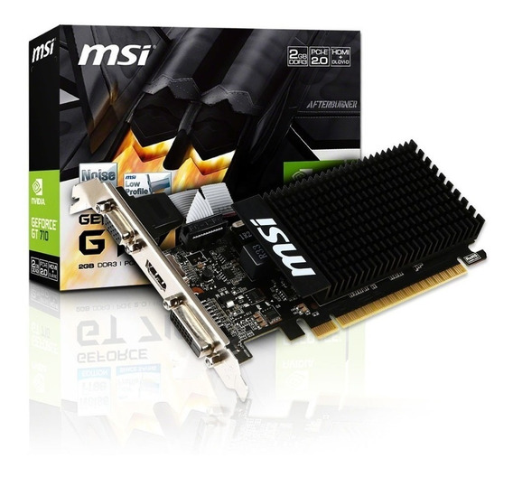 Placa Video Vga Hdmi Dvi Msi Geforce Gt710 2g Pci-e 16x Ddr3