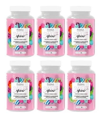 Phinna Sweet Grow Vitamina Para Cabelos E Unhas Kit Com 6