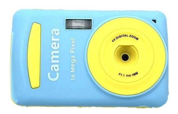 Xj03 1600 Milhões De Cores Câmera Digital Azul Criança