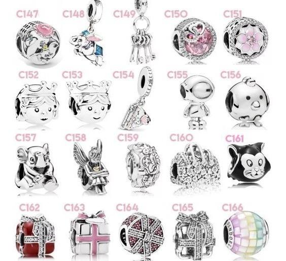 Charms Pandora Disney Mickey Y Minnie 100% Plata S925