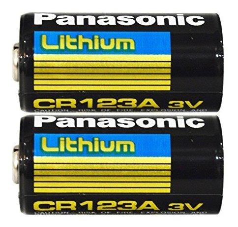 Imagen 1 de 2 de Pack De 2 Baterias De Litio Panasonic Cr123a 3v Para Camaras