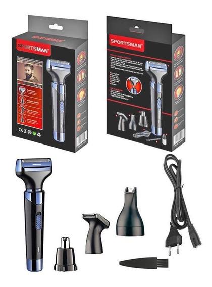4 Em 1 Elétrica Mini Lavável Máquina De Barbear Cabelo Apara