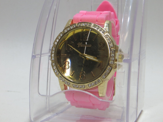 Reloj Geneva Rosa Con Dorado Para Mujer