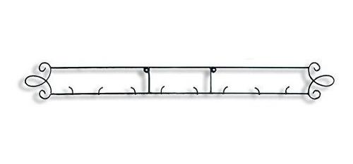 Augusta Black Horizontal Plate 4475w Pared 4place Rack