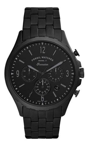 Relógio Masculino Fossil Fs5697/1pn 46mm Aço Preto