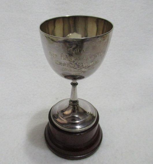 Antigua Copa Inglesa Plateada Mappin & Webb London Sheffield Trofeo Taca Sir Henry J Lynch Cesar Taurel 1927 Base Madera