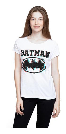 Playera Mujer Batman 3 D Glitch Licencia Dc