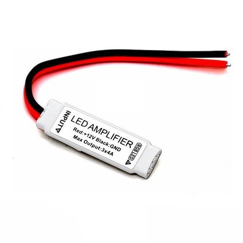 Mini Amplificador Led Tira 5050 2835 Rgb Multicolor 12v