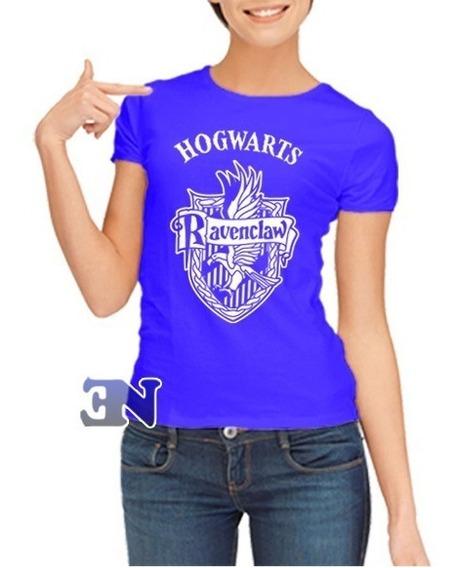 Camiseta Ravenclaw Corvinal Hogwarts Harry Potter Feminina