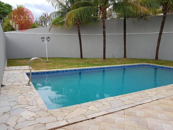 Casa Com 4 Dormitórios Para Alugar, 700 M² Por R$ 6.500/mês - Bonfim Paulista - Ribeirão Preto/sp - Ca3017