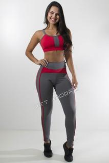 Conjunto Fitness Roupas Academia Ginástica Musculação Malhar