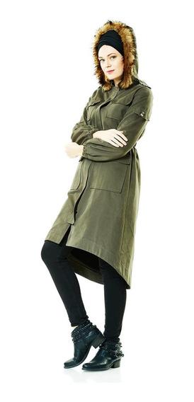 Casaco (jaqueta) Feminino Longo 2niq Verde
