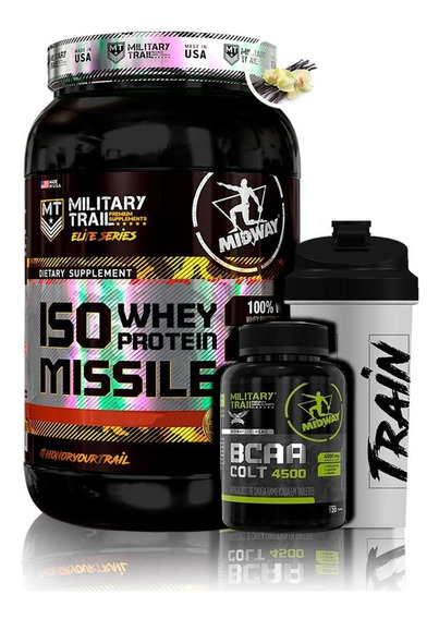 Iso Whey Isolado 930g + Bcaa Colt 120 Caps + Brinde - Midway