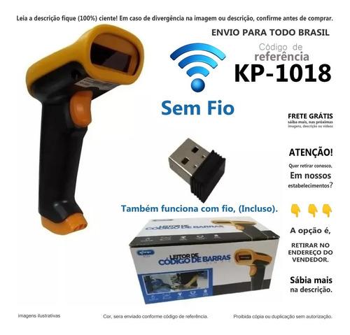 Imagem 1 de 4 de Leitor De Codigo De Barras Scanner Sem Fio & Usb Promoção A@