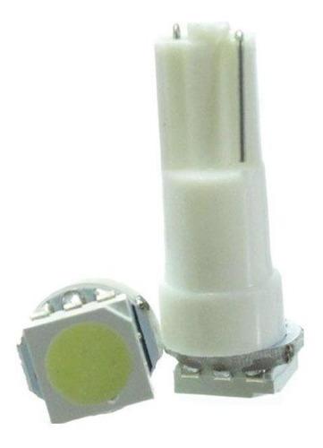 Imagem 1 de 1 de Lâmpada Led T5 12v 1smd5050 Branca 10 Unidades