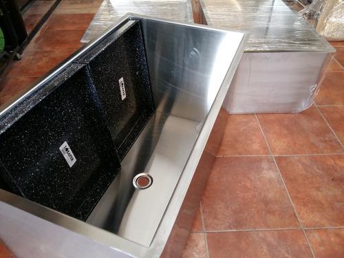Bacha Piletón Industrial 90x50x50 Acero Inoxidable Fabrica