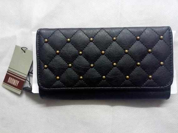 Vendo Billetera De Cuero Con Tachas Nueva Modelo 100949