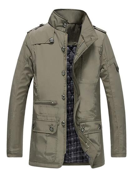 Moda Masculino Espessamento Jaqueta Quente Inverno Casual Br