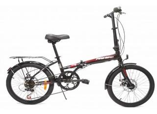 Bicicleta Plegable Folding R20 Firebird Cambios Discos 18 Ct