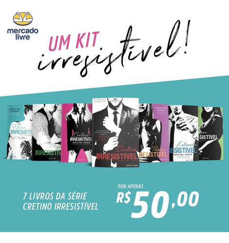Kit Irresistivel - 07 Livros Serie Cretinos - Pocket