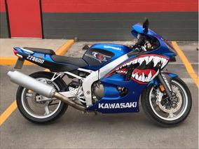 ¡¡¡excelente Moto Kawasaki 2008 Zzr 600 Azul!!!