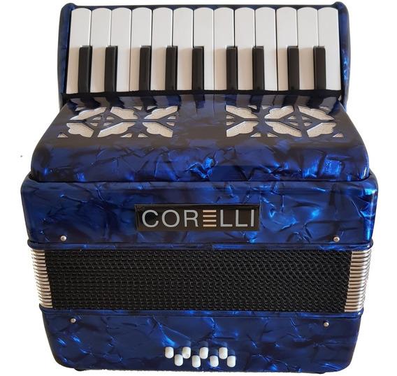 Corelli Jh2000 Acordeón A Piano 22 Teclas Y 8 Bajos + Funda