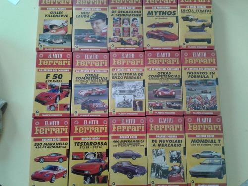 Lote 30 Videos Vhs Colección El Mito Ferrari
