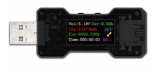 Imagen 1 de 6 de Fnb18 Usb Color Screen Tester Dc Voltímetro Digital