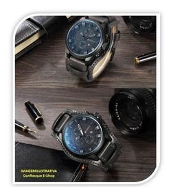 Relógio Curren 8225 De Luxo Cor Preto