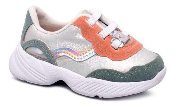 Tênis Infantil Dad Sneaker Molekinha 2709105 Branco/pistache